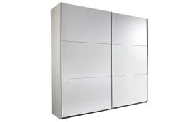 Schwebetürenschrank Oslo in weiß, Breite 218 cm, 2 großzügige Türen