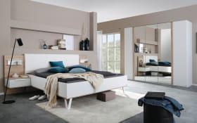 Schlafzimmer Marcella in alpinweiß, Schrankbreite ca. 250 cm, Liegefläche 180 x 200 cm