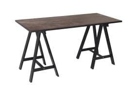 Schreibtisch Sumatra in schwarz/Vintage braun Nachbildung
