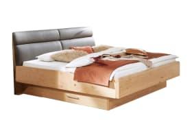 Comfort-Bett Cena in Wildeiche Furnier/Lack weiß, Liegefläche 200 x 200 cm