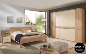 Schlafzimmer Cavalino in Kernbuche furniert, Liegefläche 180 x 200 cm