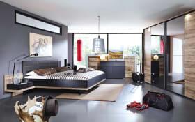 Schlafzimmer Vadora in schwarz/Eiche Sanremo-Nachbildung