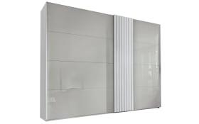 Kleiderschrank Tegio in seidengrau/weiß, Breite ca. 320 cm