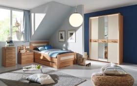 Komfortzimmer Valerie in Kernbuche teilmassiv/creme, Liegefläche ca. 100 x 200 cm