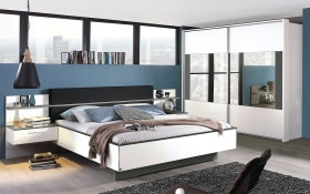 Schlafzimmer Elissa 17 in weiß/graphit