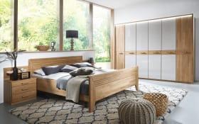 Schlafzimmer Vivien in champagner/Wildeiche natur-Nachbildung