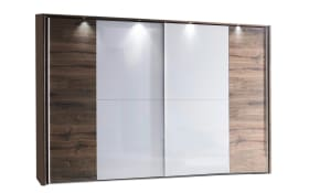 Schwebetürenschrank Vadora Plus in weiß/Atlantic Oak-Nachbildung