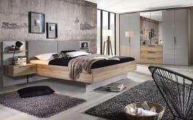 Schlafzimmer 4037 in seidengrau/Sanremo Eiche hell Nachbildung, ohne Bettschubkasten