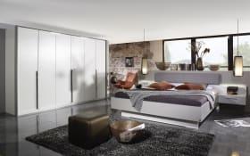 Schlafzimmer 4071 in alpinweiß/seidengrau, ohne Bettschubkasten