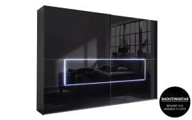 Schwebetürenschrank 4015 in schwarz, B/H ca. 320 x 223 cm