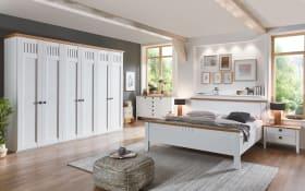 Schlafzimmer 4022 in weiß, Sprossen oben, Schrankbreite 300 cm, Liegefläche 180 x 200 cm