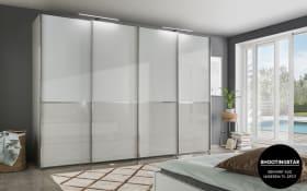Kleiderschrank Shanghai 2 in kieselgrau/weiß, Breite 330 cm, 4-türig