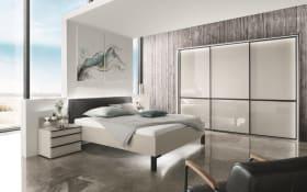 Schlafzimmer Montreal in kieselgrau-Nachbildung/kieselgrau-Glas
