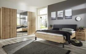 Schlafzimmer Mexiko in Bianco Eiche-Nachbildung, Liegefläche ca. 180 x 200 cm, Schrankbreite ca. 300 cm