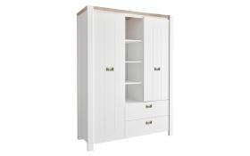 Kleiderschrank 5008 in weiß/Westminster Eiche Nachbildung