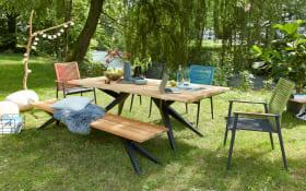 Garten-Stuhlgruppe Freilicht in Teak/anthrazit