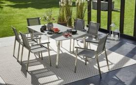 Garten-Stuhlgruppe Freilicht in grau/schwarz