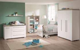 Babyzimmer Kira in kreideweiß/Eiche-Nautik-Nachbildung