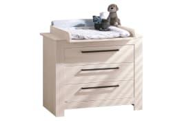 Kommode für Babyzimmer Laslo in Nordic Wood-Nachbildung
