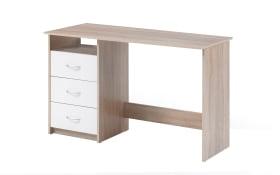 Schreibtisch Adria in Eiche Nachbildung/weiß Matt
