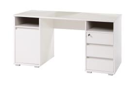 Schreibtisch Primus 2 in weiß Matt