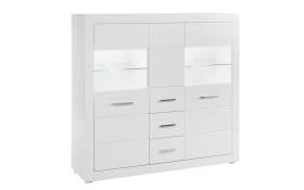 Highboard Bianco in weiß
