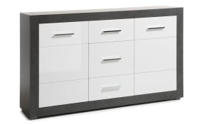 Sideboard Etero in weiß/dark concretfrbig