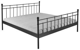 Doppelbett Verena in schwarz, Liegefläche ca. 180 x 200 cm