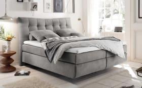 Boxspringbett Malibu 2 in light grey, inklusive Visco-Schaumtopper, Liegefläche ca. 180 x 200 cm