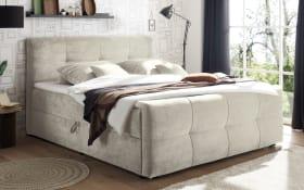 Polsterbett Winnipeg 6 in silver, inklusive Bettkästen und Komfortschaumtopper