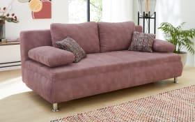 Funktionssofa Antonio in rosa, mit 6 Kissen und Schlaffunktion