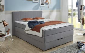 Boxspringbett BX1330 Florida in silber