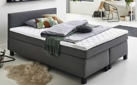 Boxspringbett Philly in grau, 140 x 200 cm