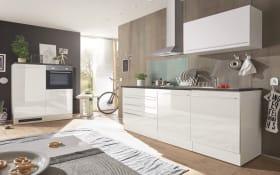 Küchenblock Jazz 4 in weiß/anthrazit, inklusive Elektrogeräte