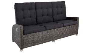 Garten-Sofa Barcelona in Geflecht Polyrattan grey-mix