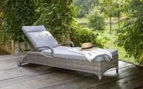 Garten-Sonnenliege Komido in braunanthrazit meliert