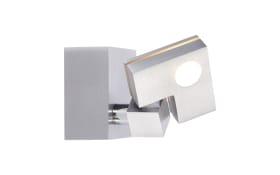 LED-Wandleuchte Degree in silberfarbig