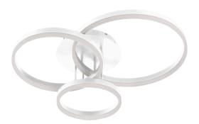 LED-Deckenleuchte Vaasa in weiß, 3-flammig
