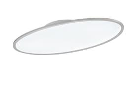 LED-Deckenleuchte Valley in silberfarbig, 80 x 40 cm