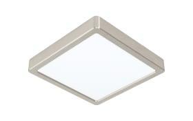 LED-Deckenleuchte Fueva 5 in nickel-matt, 21 x 21 cm