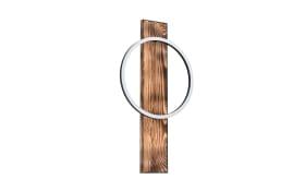 LED-Wandleuchte Boyal in schwarz/braun