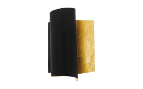 Wandleuchte Falicetto in schwarz/goldfarbig