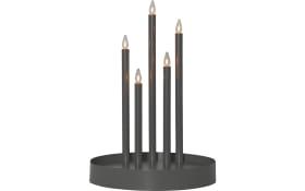 Dekoleuchte Kerzenständer Deco in schwarz, 46 cm