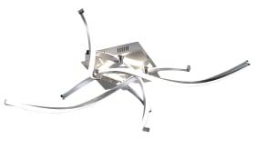 LED-Deckenleuchte Polina in nickel matt, 4-flammig