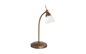 LED-Tischleuchte Pino in altmessing, 45 cm