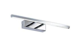 LED-Wandleuchte Bassa in chromfarbig, 45,5 cm