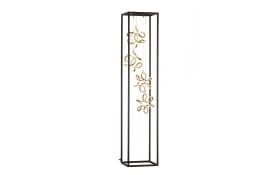 LED-Standleuchte Gesa in schwarz/goldfarbig, 170 cm
