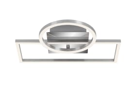 LED-Deckenleuchte Frames in chromfarbig, 38 x 31 cm