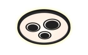 LED-Push Deckenleuchte Pac in weiß/schwarz, 42 cm