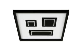 LED-Deckenleuchte Pac in schwarz/weiß, 42,3 x 42,3 cm